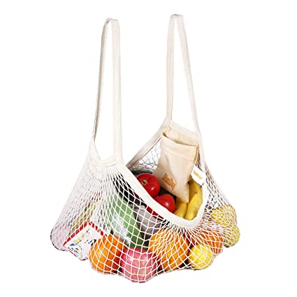 Luggage & Travel Bags Luggage & Bags Reusable Fruit Shopping String Bag High-capacity Net Travel Bag Handbag Organizer Outdoor Bags Kids Beach Toy Travel Bag
