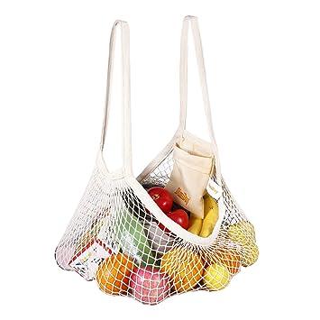 DimiDay bolsa de compras de red de algodón reutilizable ...