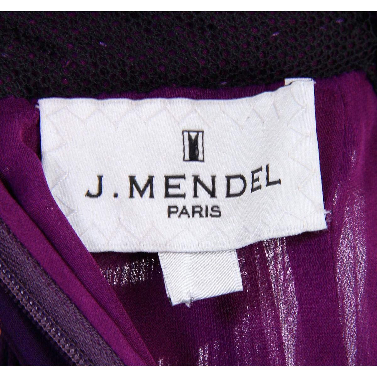 J Mendel Womens Silk Two-Tone Semi-Formal Dress Purple 2