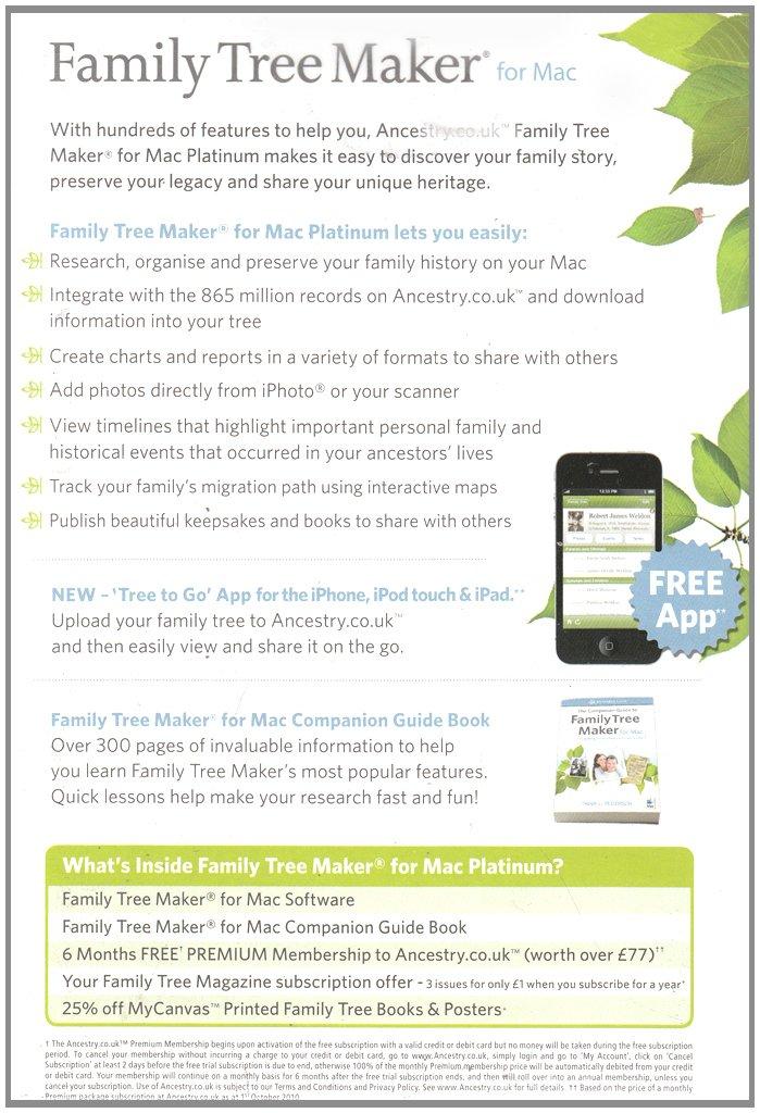 Family Tree Maker For Mac Platinum Mac Software