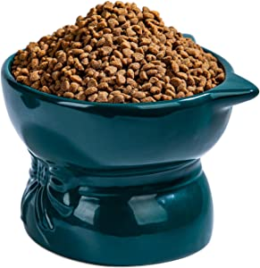 Ulmpp 2021 New Dog Cat Bowl, Elevated Cat Bowl, Raised Cat Food Water Bowl, Detachable & Cat Food Dish Stand for Kitty and Puppy