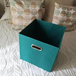 Zeller 14135 - Caja de almacenaje de tela, plegable, 28 x 28 x 28 cm, color morado: Amazon.es: Hogar