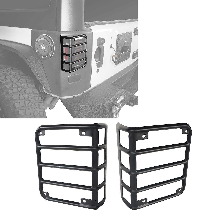 u-Box Jeep JK Taillight Cover Rear Euro Tail Light Cover Guard in Gloss Black (Jeep Wrangler JK 2007-2018)
