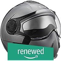 (Renewed) Studds Full Face Helmet Downtown (Gun Grey, L)