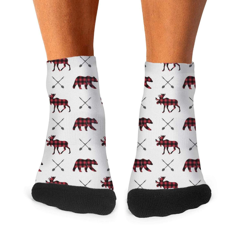 Mens Athletic Low Cut Ankle Sock Buffalo Moose And Bears Arrow Short Lightweight Sock