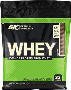 Optimum Nutrition ON Whey Proteina Isolate, Proteinas Whey en Polvo, Proteina de Suero para Masa Muscular y Musculacion, Bajo en Azúcar, Chocolate, 33 Porciones, 891g