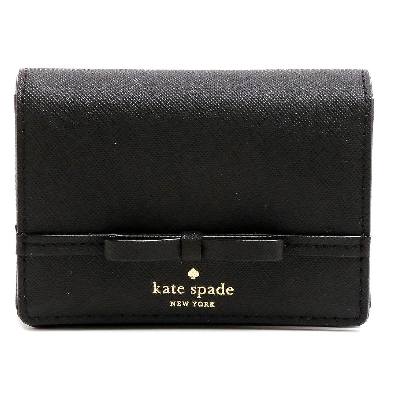 (ケイトスペード) KATE SPADE カードケース キーポーチ 名刺入れ CONNORS LANE BECA リボン PWRU5722 001/BLACK [並行輸入品] B075ZNVBM5