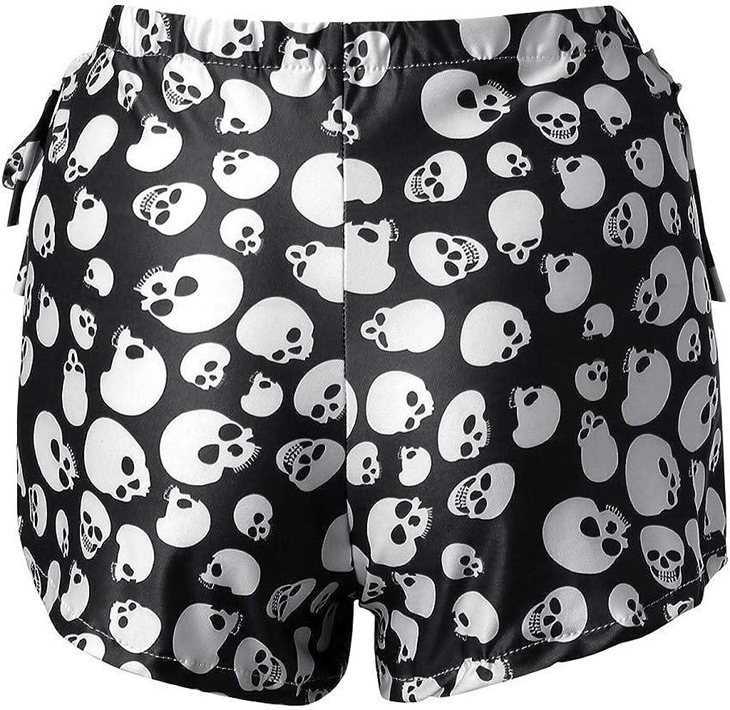 Ladies Summer Side Stripe Cycle Shorts Cotton Gym Shorts UK Size S-3XL