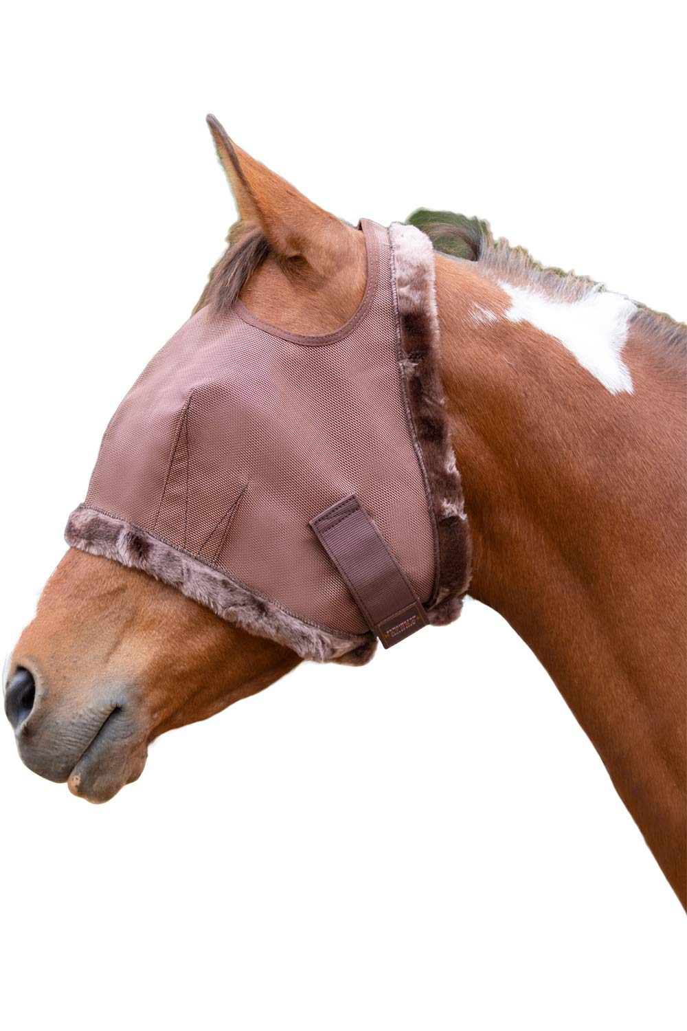 Kensington Fly Mask Fleece Trim for Horses - Protects Face, Eyes from Flies, UV Rays While Allowing Full Visibility - Breathable Non Heat Transferring, Perfect Year Round, (M, Bay) by Kensington Protective Products