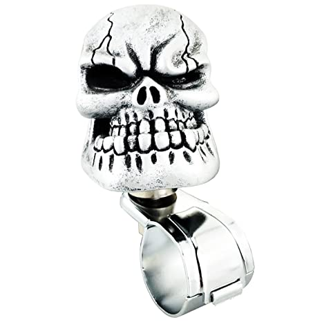 Amazon Com Lunsom Cool Power Handle Spinner Skull Steering Wheel