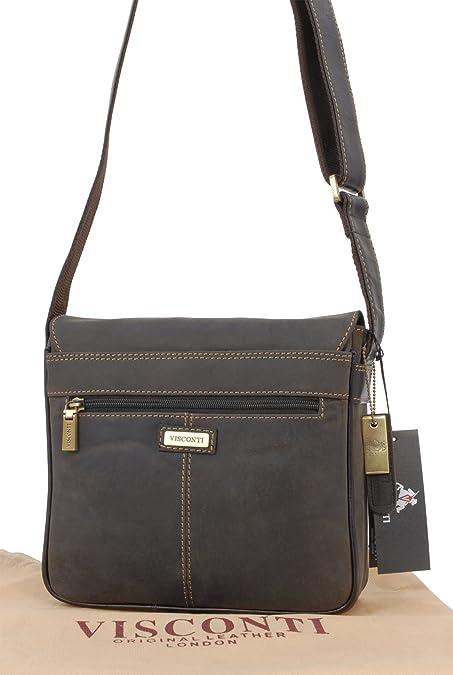 d74b631c8 Visconti Leather Messenger Organiser Bag - 16012 Rumba: Amazon.co.uk:  Electronics