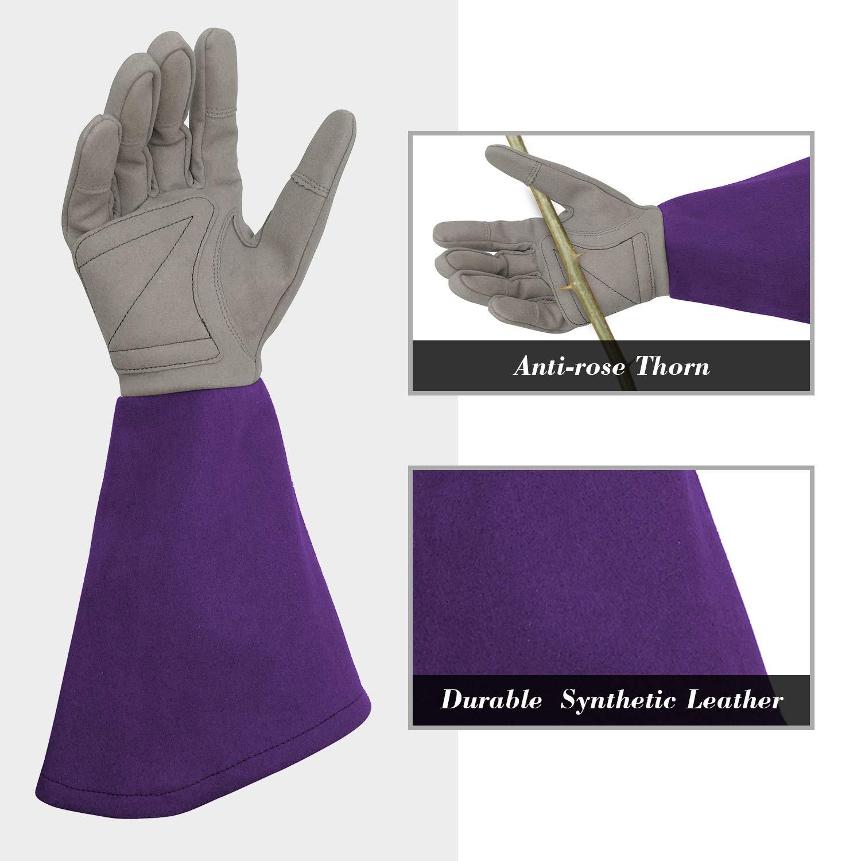 Rosa Intra-FIT Rosen-Stickerei-Handschuhe Gartenhandschuhe mit extra langem Unterarmschutz f/ür Damen und Herren Violett//Magenta//Blau//Olivgr/ün//Hellblau//Hellblau//Rosa//Rosa