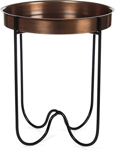 H Potter Outdoor Patio Side Table Antique Copper