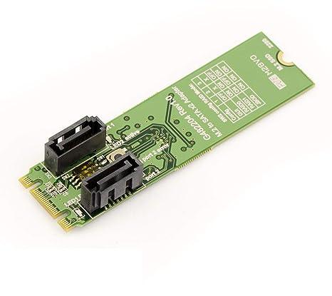 Kalea Informatique – Tarjeta controlador M.2 (NGFF) 2 Puerto SATA ...