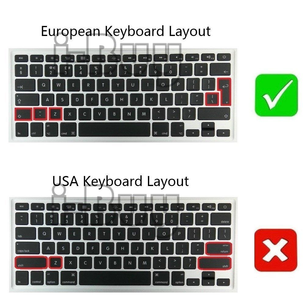 i-Buy - 2 fundas protectoras de silicona para teclado de MacBook Air 13 Pro, 15, [teclado UE] Arancia & Viola Macbook 12(Inglese): Amazon.es: Informática