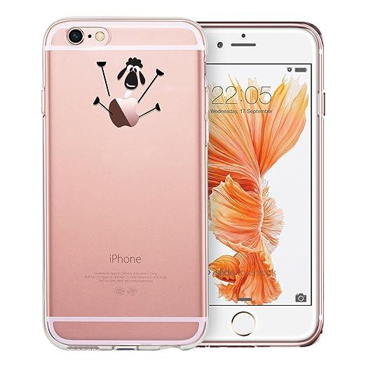 6 opinioni per Cover iPhone 6 Clear Silicone Custodia, Resistente ai graffi Protettivo Case