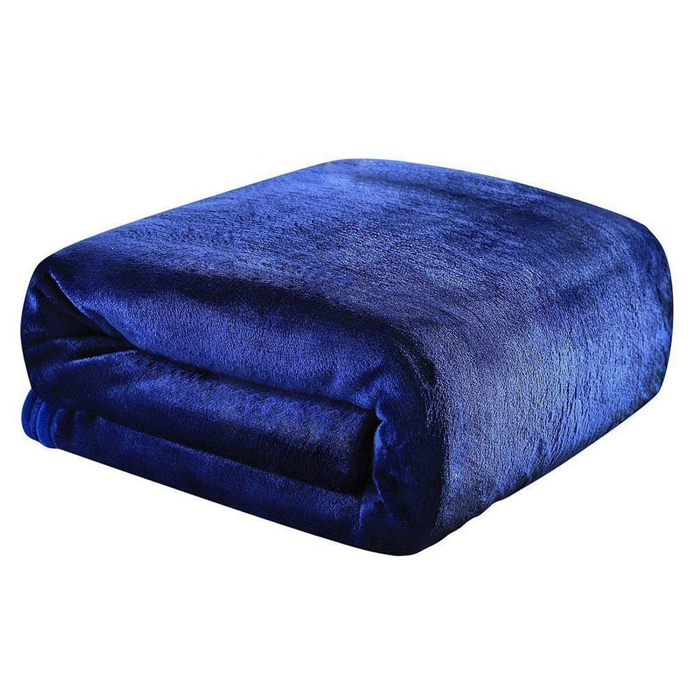 """9.8 Newton Comfortable Weighted Blanket, Navy Blue, 60"""" × 80"""" - 17 lbs, Various Sizes for Children and Adults, Perfect Sleep Therapy for People with Insomnia, Stress, Anxiety, Autism or ADH."""