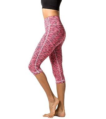 LAPASA Pantalón Deportivo de Mujer. Versión Dual-Color y Bolsillo Súper-Ergonómico Lateral. (Malla para Running, Yoga y Ejercicio.). L38 (Rosa ...