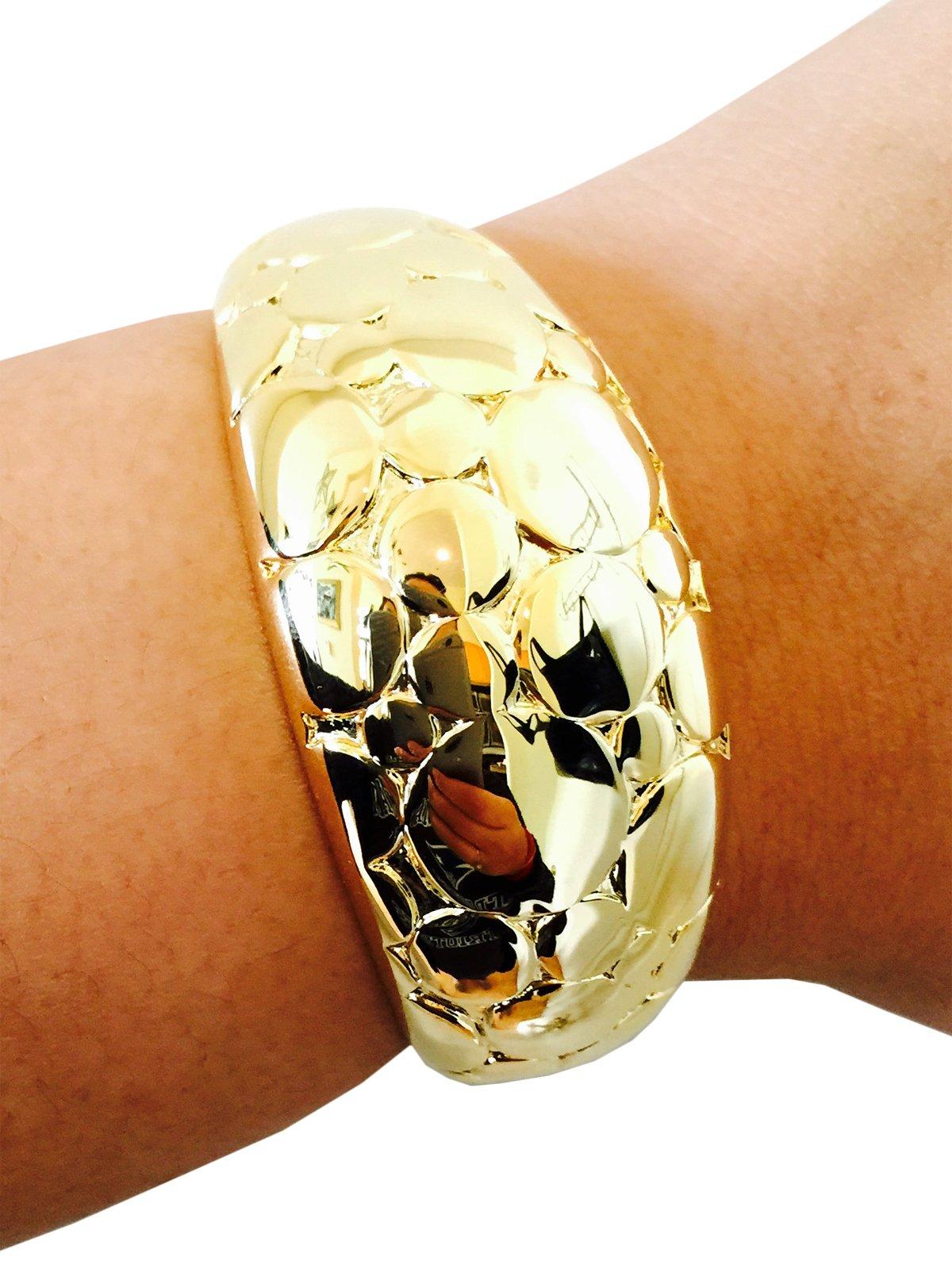 Fitbit Bracelet for FitBit Flex Activity Tracker - The JUANITA Hinge Bangle Fitbit Bracelet (Gold)