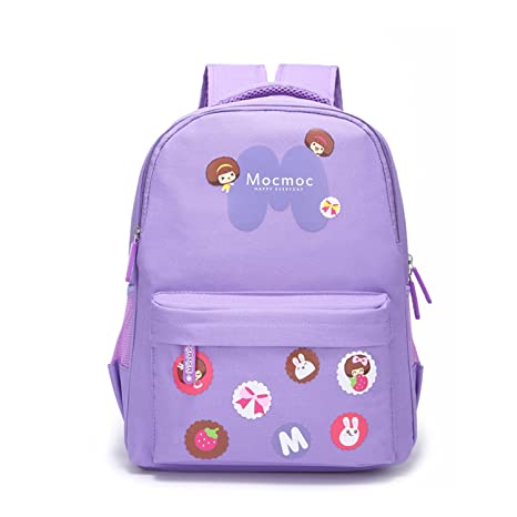 Amazon.com  Willikiva Print Cute Cartoon Girls Kids Backpack for Children  Elementary School Toddler Bags Bookbag (Purple 495ce5787d305