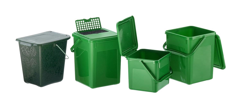 Rotho Kompost Eimer GREENLINE, Bio Mülleimer für die Küche mit ...