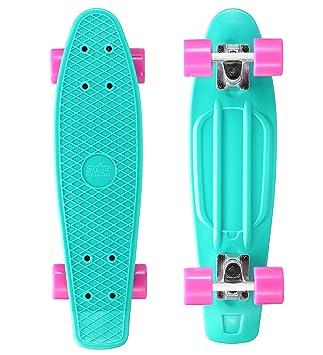 Star-Skateboards-60-RT-01-PLBY - Monopatín (diseño de Caribe y glamuro), Color Turquesa