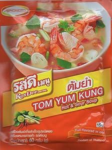 Ajinomoto Rosdee Menu Seasoning Tom Yum Powder Sour& Spicy Soup Thai Food 60g