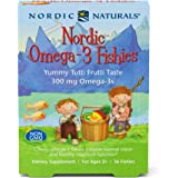 Nordic Naturals Nordic Omega-3 Fishies, Tutti Frutti - 36 Fishies - 300 mg Total Omega-3s with EPA & DHA - Healthy Brain…