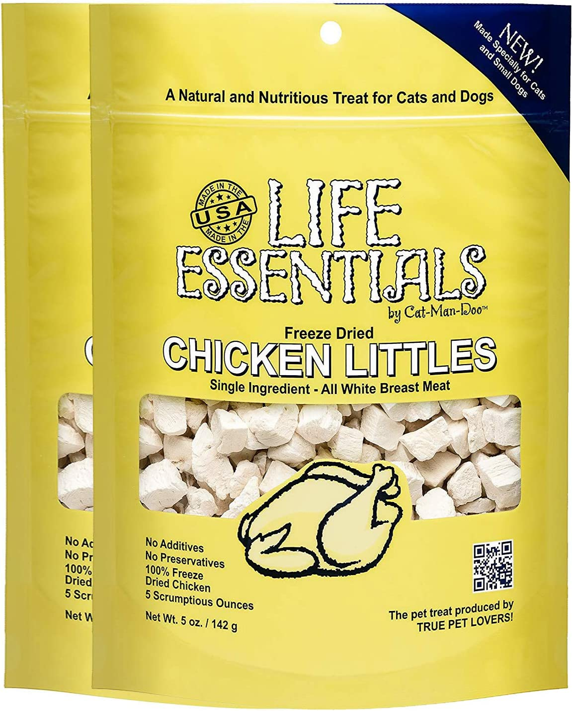 Freeze Dried Chicken Little s for Dogs Cats -5 oz – 2 Pack