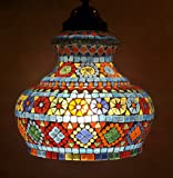 HND00501 Traditional Indian Decorative Glass Hanging lamps