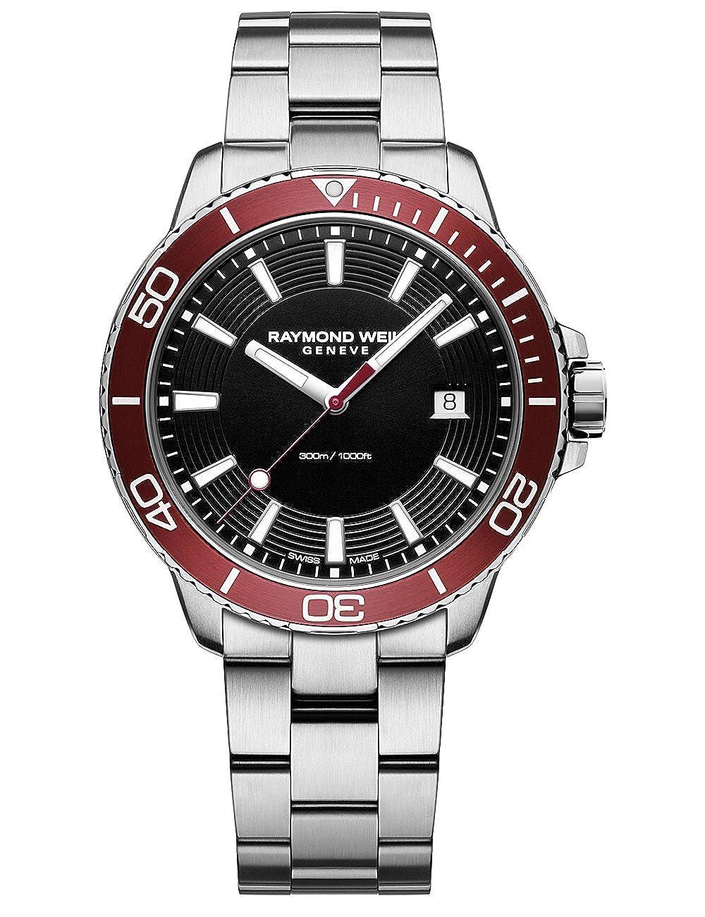 Raymond Weil Men s Tango 301 Quartz Watch with Stainless-Steel Strap, Silver, 20 Model 8260-ST4-20001