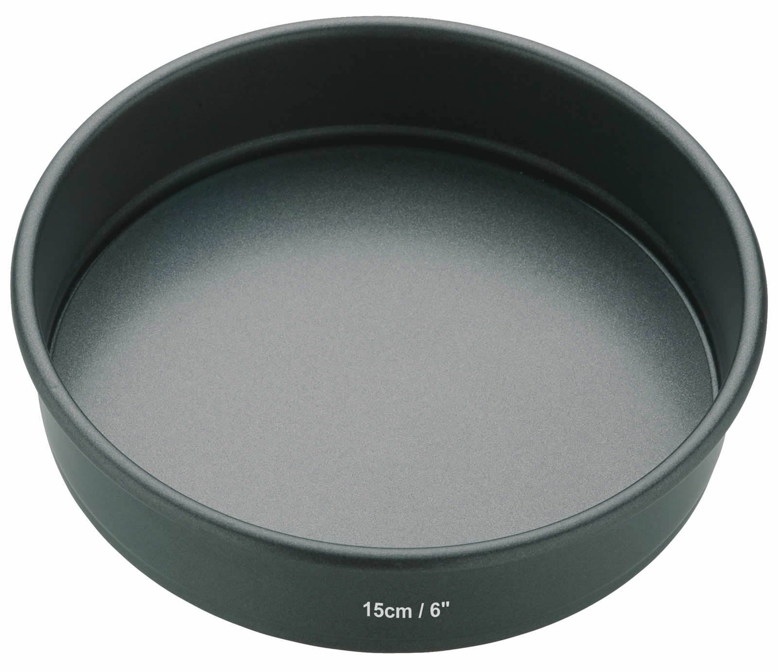 Kitchen Craft Molde Redondo, Base Suelta, Acero, Negro, 15 cm product image