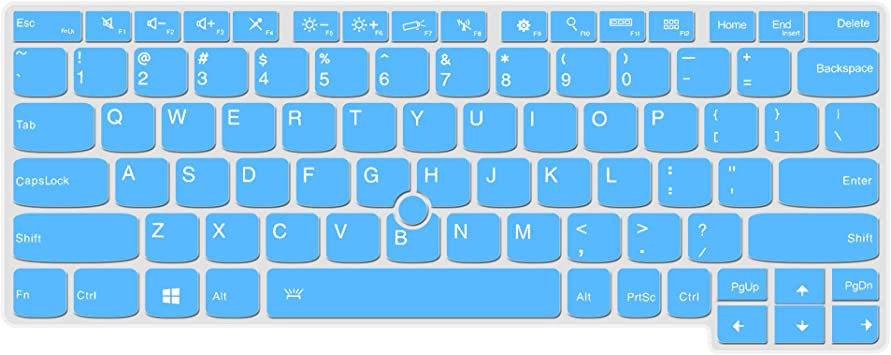 Lapogy Keyboard Silicone Cover Compatible Yoga 260, Yoga 370, ThinkPad X230S X240 X 240S X250 X 260 X270 X 280, Thinkpad X380 Yoga Laptop(Blue)