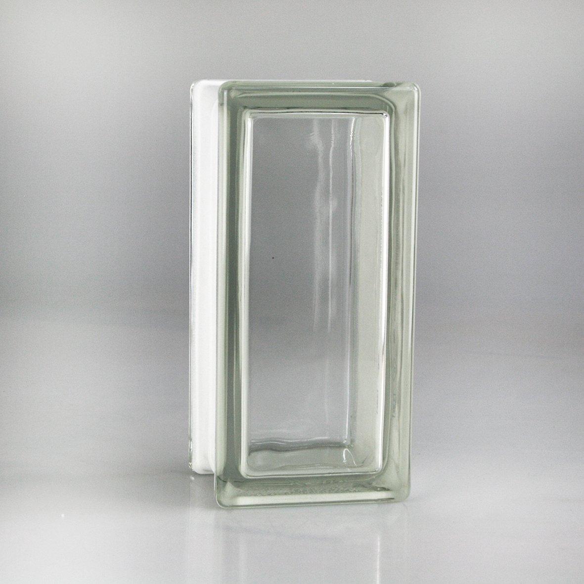6 pezzi Vetra Vetromattone Liscio Trasparente 19x9x8 cm - (Demi ...