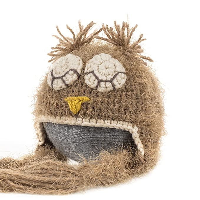 Amazon.com  Fovitec - Newborn Baby Photo Prop Sleepy Owl Hat - Brown ... 901fc523e6c4