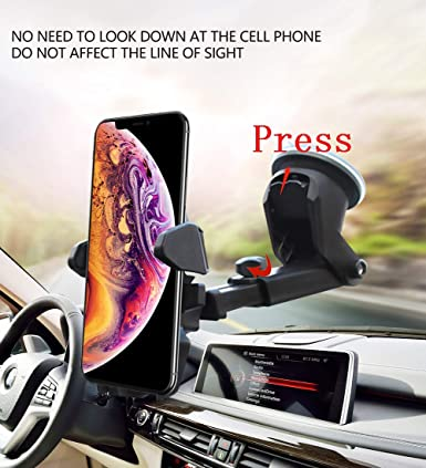 Google and More Samsung Galaxy S9,S8 S7 7 Car Phone Mount,MANORDS Durable Dashboard Cell Phone Holder Compatible for iPhone Xs,X 8 Plus 8 7 Plus Note 9 Edge S8 Plus