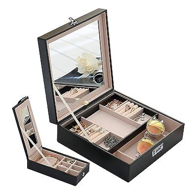 Amazon.com: Candado de combinación caja de joyas organizador ...