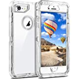 ORIbox Protective Case for iPhone 7/8/SE 2020, Heavy Duty Shockproof anti-fall case, More suitable for people with big hands, Crystal Clear