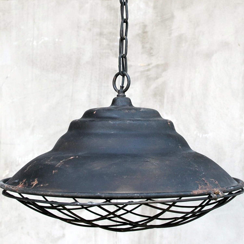 Unbekannt Große Vintage Hängeleuchte Industrielampe Rost Schwarz Metall 51cm Durchmesser Fassung E27