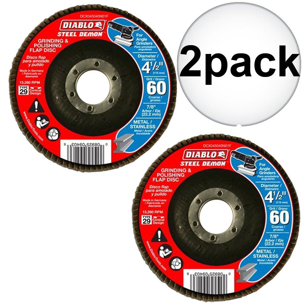 Diablo DCX045060N01F 4-1/2'' Steel Demon Flap Disc 60 Grit 2-Pack