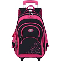 Coofit Cartable a roulette fille en Oxford Sac a dos college fille Cartable fille college scolaire ecole primaire Sac a dos fille roulette Cartable fille a roulette