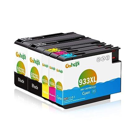 Gohepi 932XL/933XL Compatible para Cartuchos de tinta HP 932XL ...