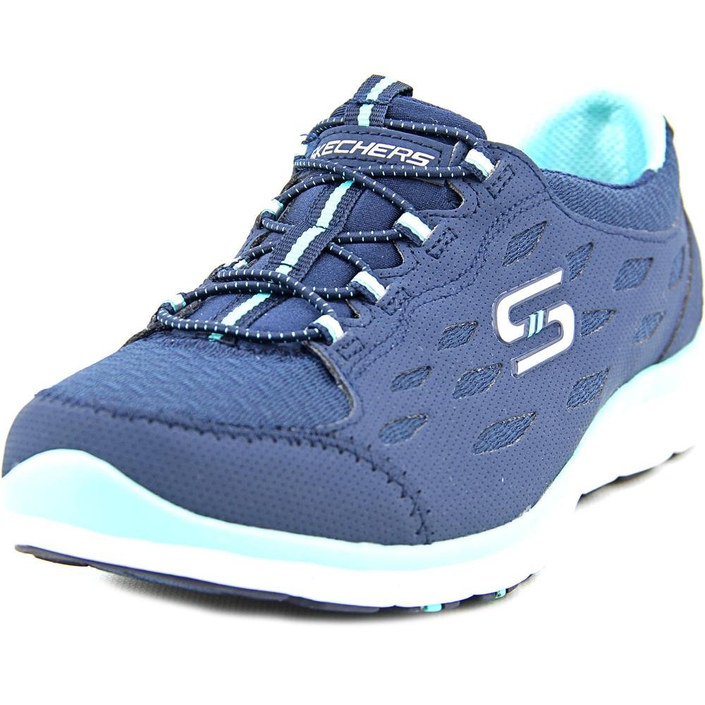Skechers Sport Women's Gratis Bungee Fashion Sneaker B014EUNL5C 10 B(M) US|Navy/Green