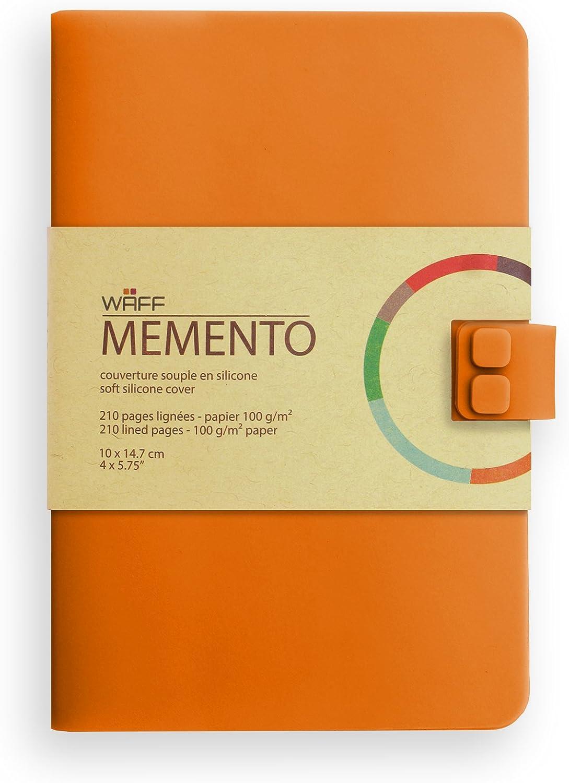 talla M color azul 210 p/áginas Waff Memento Cuaderno creativo