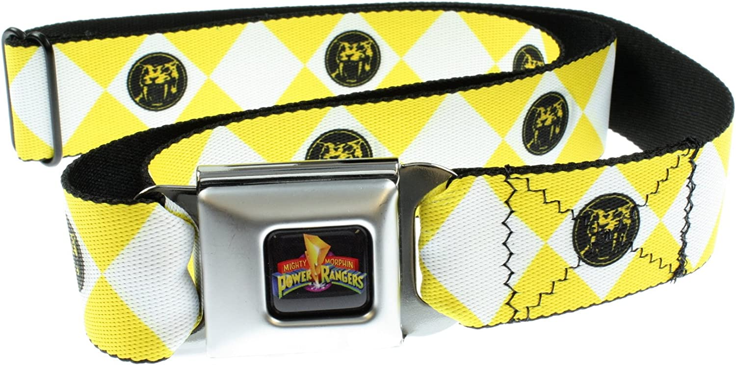 Power Rangers Rangers Logo Ceinture Pantalon Belt-Holds adultes Diamants jusqu