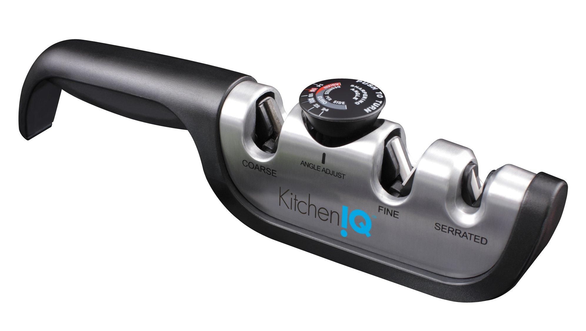 KitchenIQ 50146 Angle Adjust Adjustable Manual Sharpener