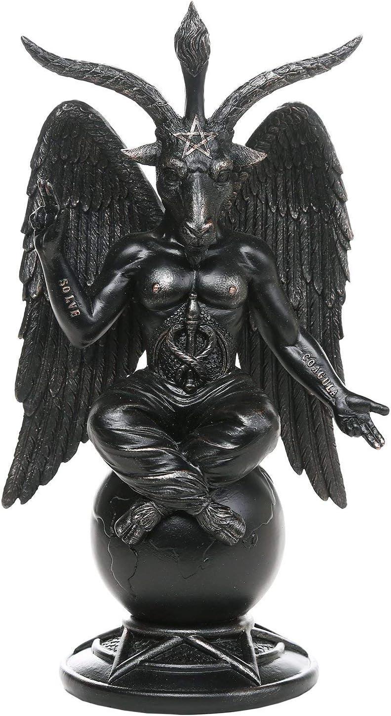 GiftImpact Baphomet Divine Goat of Mendes Sabbatic Goat Solve et Coagula Statue 10 Inch Tall