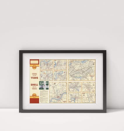 Amazon.com: 1956 Map|Various Regions and Cities in Kentucky ...