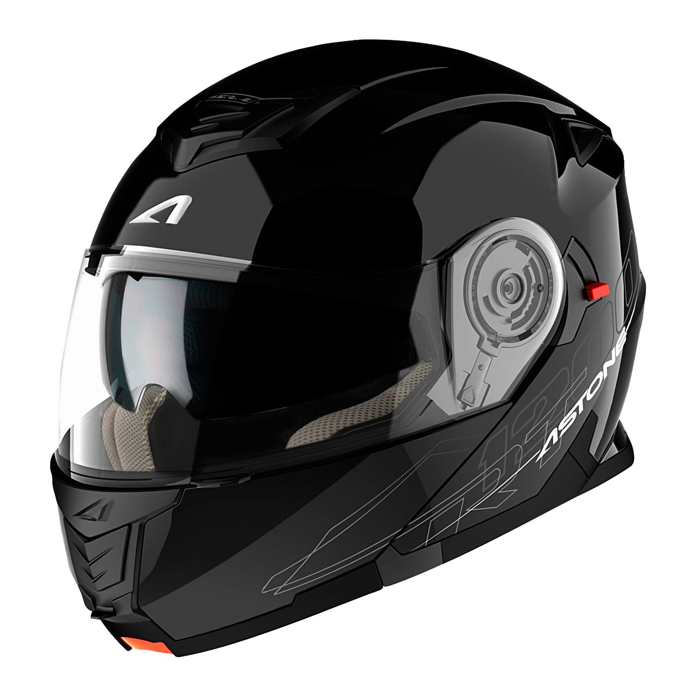 Astone Helmets, Casco, color Negro Brillante, talla M product image