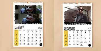 iconic hollywood movie quotes boka wall calendars as